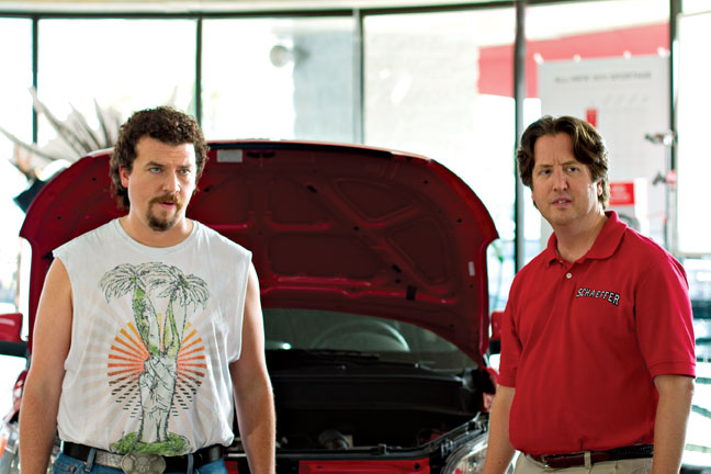 "Kenny Powers (Danny McBride) and Stevie Janowski (Steve Little) in ""Eastbound & Down"""
