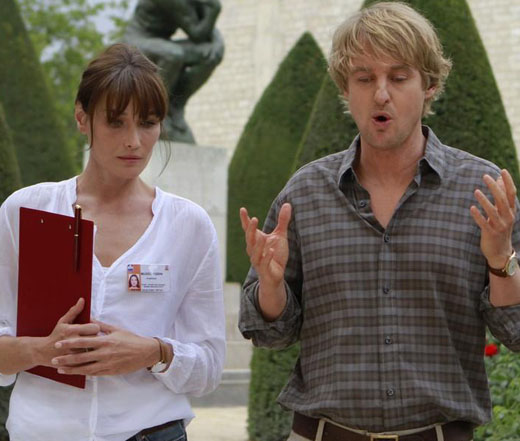 "Owen Wilson and Carla Bruni in Woody Allen's ""Midnight in Paris"""