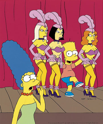 "The Simpsons song ""La Maison Derriere"" from ""Bart After Dark"""