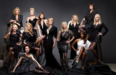 "HBO's ""About Face: Supermodels Then and Now"" culminates in a bi-coastal group photo shoot featuring more than a dozen of the world's top fashion models including Hansen, Marshall, Tiegs, Johnson, Taylor, Emerg, Alt, Bjornson, Haddon, Brinkley, Donahue, Alexis"
