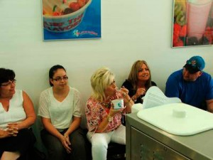 Season 3 of Long Island Medium finds Theresa Caputo visiting a local frozen yogurt store.