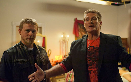 "David Hasselhoff stars in a Season 4 episode of ""Sons of Anarchy."""