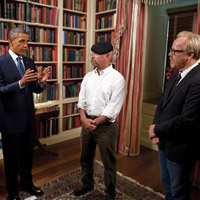 Mythbusters and President Barack Obama