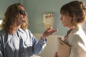 "Kurt Sutter and Maggie Siff share a scene in ""Small World,"" the latest episode of FX's ""Sons of Anarchy"""