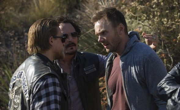 "Joel McHale guest stars on ""Toad's Wild Ride,"" the latest episode of FX's drama ""Sons of Anarchy."""