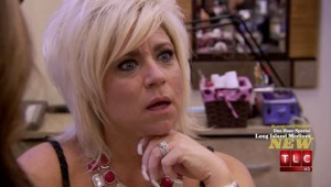 Long Island Medium Theresa Caputo at a nail salon in Bakersfield, California
