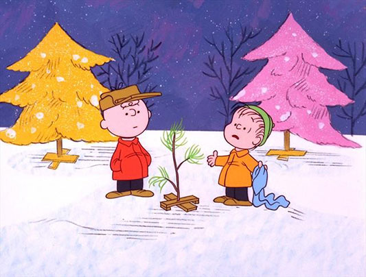 "Charlie Brown and Linus go shopping for the perfect tree in ""A Charlie Brown Christmas"""