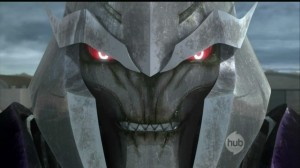 "Megatron from The Hub's ""Transformers Prime"""