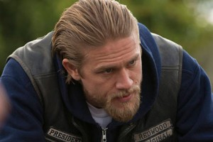"Charlie Hunnam as Jax Teller in ""J'ai Obtenu Cette,"" the Season 5 finale of ""Sons of Anarchy"""
