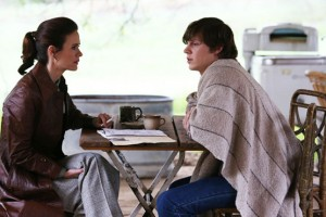"Sarah Paulson and Evan Peters in ""Madness Ends,"" the Season 2 finale of FX's ""American Horror Story: Asylum"""
