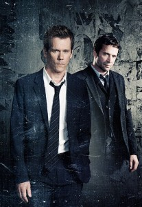 "Kevin Bacon pursues James Purefoy in FOX's ""The Following"""