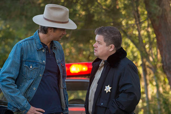 "Timothy Olyphant and Patton Oswalt star in Season 4 of FX's ""Justified."""