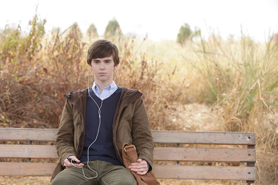 "Freddie Highmore as Norman Bates in A&E's ""Bates Motel"""