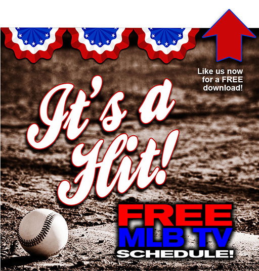 FREE MLB TV schedule printable version