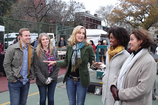 "Lara Spencer works with contestants on Season 2 of HGTV's ""Flea Market Flip"""