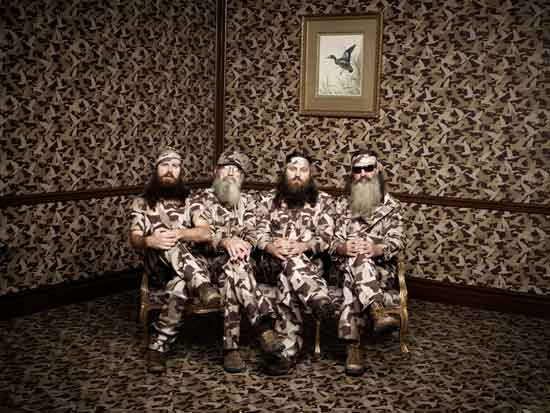 Jase, Si, Willie and Phil Robertson of A&E's Duck Dynasty