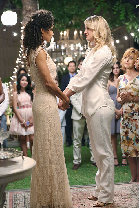 The Fosters summer finale wedding ABC Family Sherri Saum Teri Polo