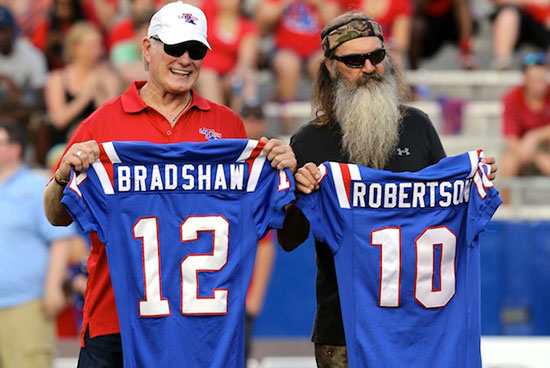 Phil Robertson football Terry Bradshaw Duck Dynasty Louisiana Tech