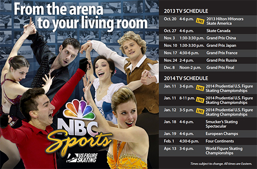 Figure Skating TV schedule 2013