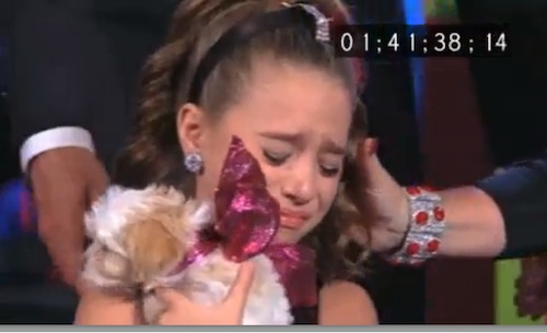 Dance Moms Christmas Mackenzie puppy cry