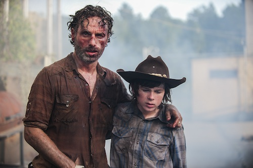 The Walking Dead Season 4 rick carl