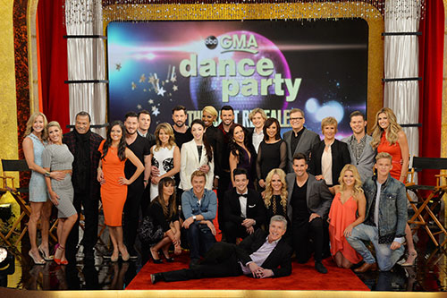 the Season 18 cast of Dancing with the Stars poses on GMA