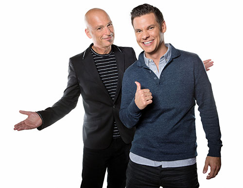 Deal With It host Theo Von with Howie Mandel