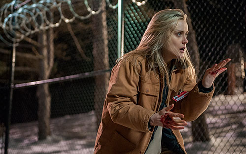 Taylor Schilling in a scene from Orange is the New Black Season 2.