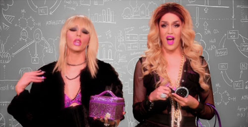 RuPauls Drag Race Season 6 Episode 7 Adore & Laganja in their commercial