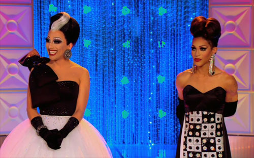 RuPauls Drag Race Season 6 episode 7 Bianca and Trinity on the runway