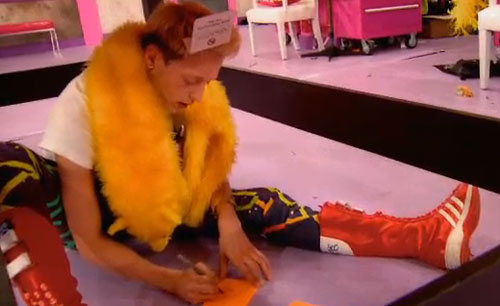 RuPauls Drag Race Season 6 Episode 8 Laganja under the table