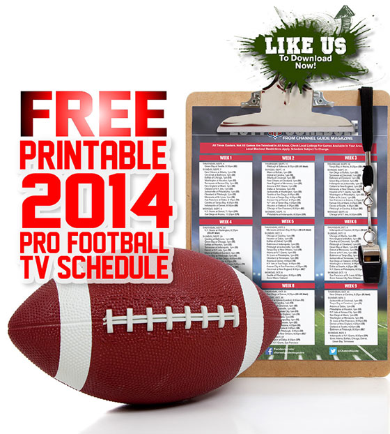 Download a free NFL schedule 2014 printable version