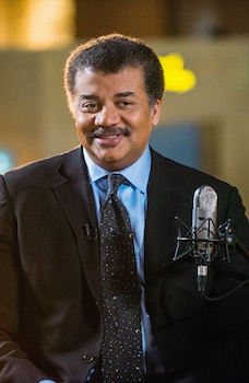 "Neil deGrasse Tyson on the set of his new talk show series ""StarTalk"""
