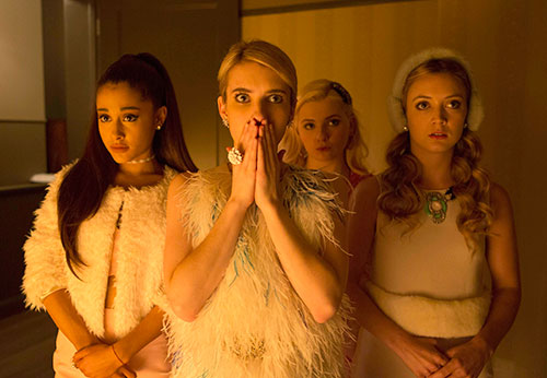 The Chanels (L-R): guest-star Ariana Grande, Emma Roberts, Abigail Breslin and Billie Lourd.  Imge Credit: Steve Dietl/FOX