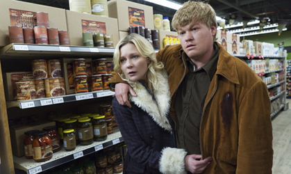"FARGO -- ""Palindrome"" -- Episode 210 (Airs December 14, 10:00 pm e/p) Pictured: (l-r) Kirsten Dunst as Peggy Blumquist, Jesse Plemons as Ed Blumquist. CR: Chris Large/FX"