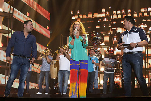 Banda MS and Lucero rehearse for the 2016 Billboard Latin Music Awards