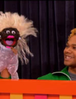 Chi Chi with Bob puppet RuPaul's Drag Race season 8 episode 8