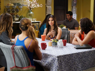 (L to R) Dania Ramirez, Ana Ortiz, Roselyn Sanchez and Judy Reyes star in season 4 of Devious Maids